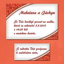 Papiernictvo - Svadobné oznámenia Dotyk nehy 12 - 5672048_