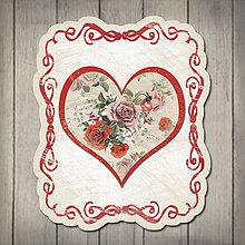 Papiernictvo - Kvety v srdci - pohľadnica - 5672207_