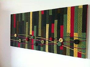 Obrazy - Textilný art quilt-rozkvitnutá lúka - 5674533_