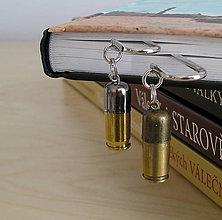 Papiernictvo - kovová záložka do knižky s mosadznou nábojnicou - 5676463_