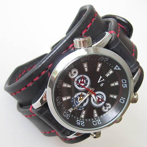Kožené hodinky čierne 12dae25a43