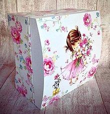 Krabičky - Dievčatko v ružovom - 5676473_