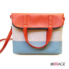 Kabelky - Rebecca n.17 carrot red & ice blue - 5674140_