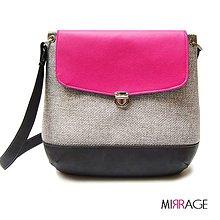 Kabelky - Grace n.12 grey & pink - 5676362_