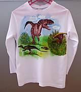 Detské oblečenie - Dinosaurie tričko pre dinosaurusomaniakusa - 5676046_