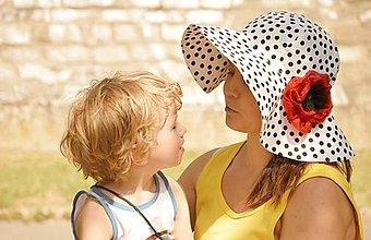 Čiapky - Dámsky klobúk Poppy flower s odopínateľným kvetom - 5674033_