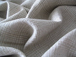 Textil - Ľan prírodný károvaný - 5674628_