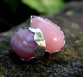 Náušnice - Růžový opál z Peru - 5674325_