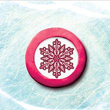 Magnetky - Magnetka snehová vločka - 5674830_