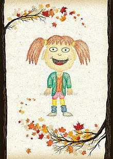 Detské doplnky - Jesenná linajkové podložky do zošita (Cool baba) - 5676142_