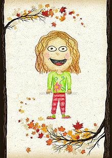 Detské doplnky - Jesenná linajkové podložky do zošita (Veselka) - 5676147_