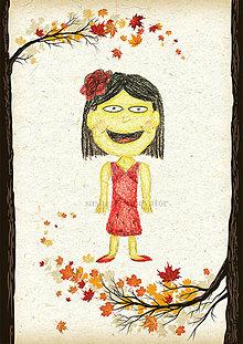 Detské doplnky - Jesenná linajkové podložky do zošita (Číňanka) - 5676158_