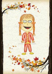 Detské doplnky - Jesenná linajkové podložky do zošita (Pipi bez pančúch) - 5676172_