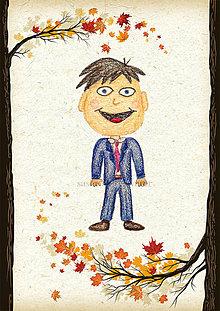 Detské doplnky - Jesenná linajkové podložky do zošita (Elegán) - 5676177_