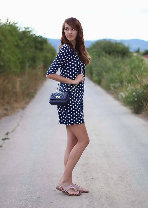 Modré šaty bodkované...   ZuzanaZachar - SAShE.sk - Handmade Šaty a39b871f02e