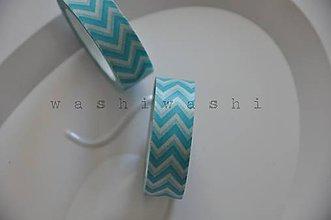 Papier - washi paska tyrkysovy cik cak - 5679898_