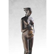 Socha - V očakávaní - bronzová socha - originál - 5678442_