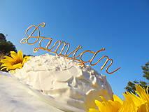 Dekorácie - meno na tortu...veľké - 5678383_