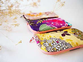 Taštičky - obaly na mobil - veľké kvety - 5677775_