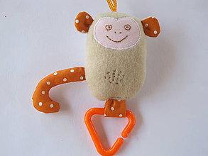 Hračky - Opica Škorica-textilná hračka - 5679526_