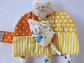 Hračky - Mačička s myškou- vreckár,hračka - 5679556_