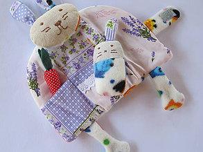 Hračky - Zajačica so zajkom- vreckár, hračka - 5679565_