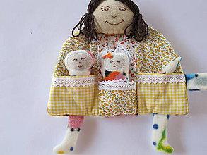 Hračky - Mama s bábätkami-vreckár, - 5679574_