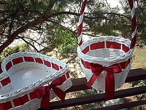 Košíky - Svadobná sada - červené víno.. - 5677938_