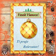 Papiernictvo - Vianočná pohľadnica s ozdobou - luxusná - 5677048_