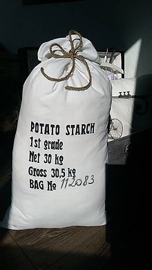 """Úžitkový textil - Vankúš veľký """"vrece zemiakov"""" - 5680079_"""