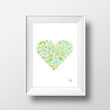 Grafika - Pastelové letné lásky A4 - 5682009_