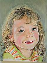Obrazy - moja dcérka Kajka - plátno A4 - 5680872_