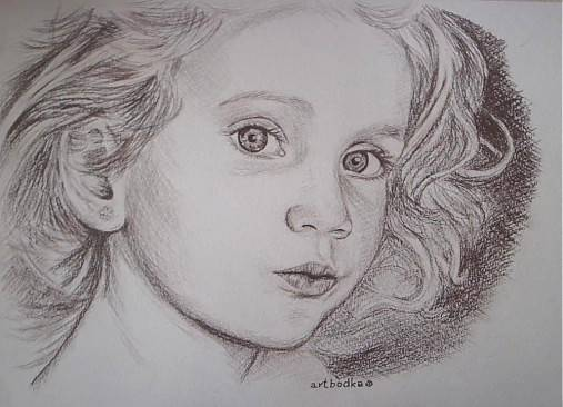 kráska :-) ,portrét A4