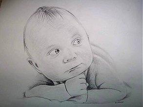 Kresby - malý Dany :-) - portrét A4 - 5681284_