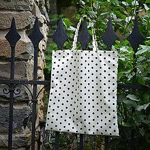 Nákupné tašky - Nákupná taška - čokoládové bodky na vanilke - 5681251_