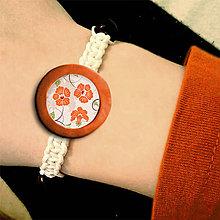 Náramky - Shamballa náramok s kvetinovým obrázkom 9 - 5680250_