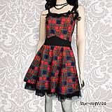 - Rockabilly červeno-modré šaty /Letný výpredaj/ - 5684177_