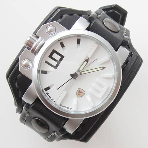 02b114ce1 Pánske hodinky, čierny kožený náramok / leon - SAShE.sk - Handmade ...