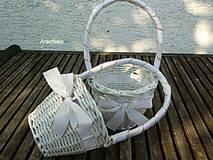- biela svadba - košíček pre družičku - 5685983_