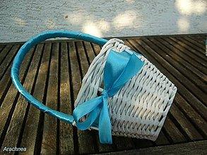 Dekorácie - košíček pre družičku (modrý) - 5685945_