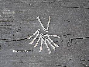 Komponenty - Prívesok - nožík strieborný - 5684987_