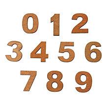 Polotovary - Drevené čísla - 1ks - 5684435_
