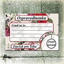 Papiernictvo - Ospravedlnenka - 5684785_