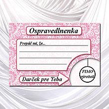 Papiernictvo - Ospravedlnenka čipková - 5684832_