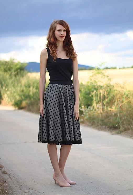 a75a1313449a MIDI sukňa s bodkovaným tylom   ZuzanaZachar - SAShE.sk - Handmade Sukne