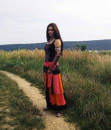 Sukne - lelovica :-) maxi sukňa - 5687195_