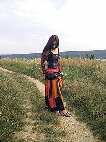 Sukne - lelovica :-) maxi sukňa - 5687196_