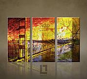 Obrazy - Obraz na plátne - Golden Sunset / 3 dielny 120x80cm 011A3 - 5688179_