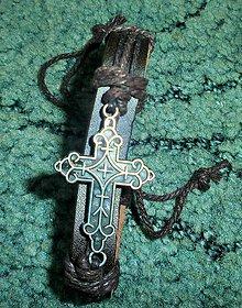 Náramky - náramok kríž 2 - 5687955_