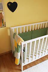 Textil - Zeleno-béžové hniezdo - 5689732_